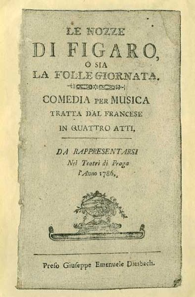 The libretto from 1786, courtesy of Wikimedia Commons.